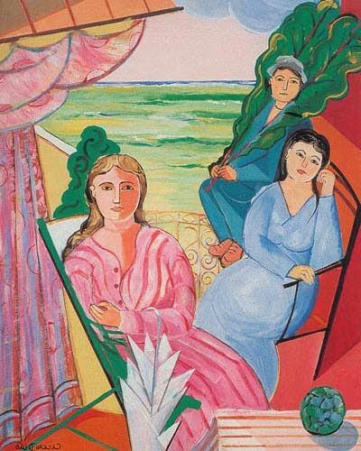Figuras na Varanda - Cícero Dias e suas principais pinturas ~ Pintor pernambucano