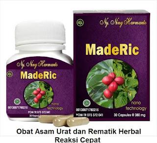 Obat alami asam urat-rematik Maderic asli herbal tradisional Bpom