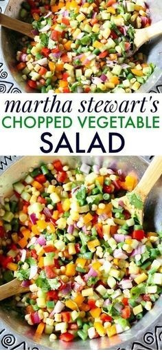 Martha Stewart's Chopped Vegetable Salad Recipe