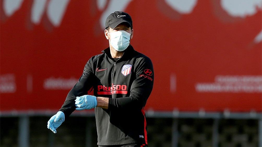 El Atlético Madrid de Simeone tuvo su primera práctica