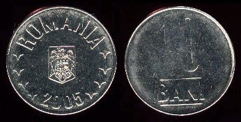 Romania 10 Bani (2005) 20.4mm