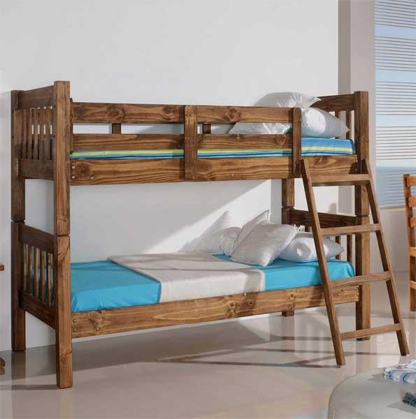 La web de la decoracion y el mueble en la red camas nido y literas serie rustica - Literas nido 3 camas ...