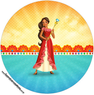 Elena of Avalor Toppers or Free Printable Candy Bar  Labels.