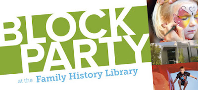 The Family History Library Announces 2nd Annual Free Block Party