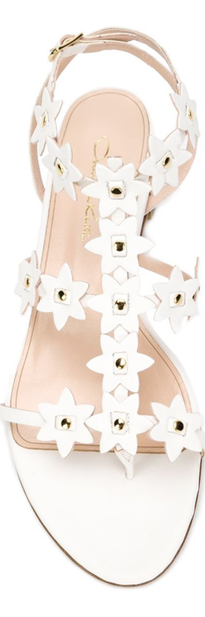 OSCAR DE LA RENTA T-bar Embellished Sandals