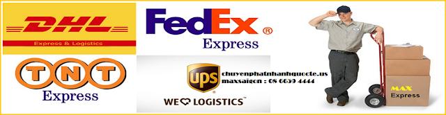 Dịch vụ Gửi hàng đi nước ngoài chính hãng DHL, TNT, UPS, FEDEX