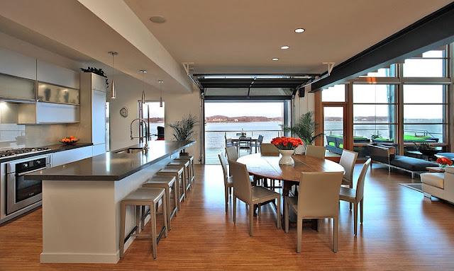 "Modern architecturally designed ""green"" Chesapeake Bay - Gardner and Mohr - found on Hello Lovely Studio"