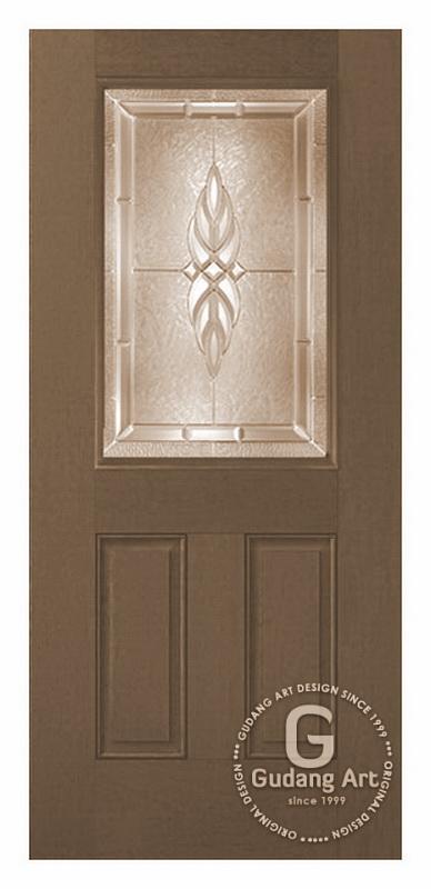 Desain Pintu Kaca Patri Bevel Minimalis Gudang Art Design