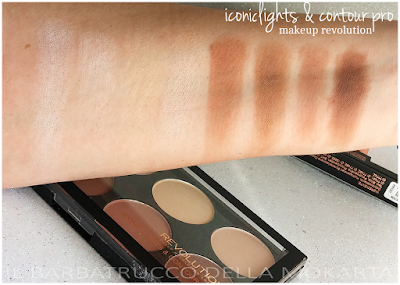 SWATCHES ICONICS LIGHT E CONTOURING PRO  Contouring & Highlighting - Makeup Revolution