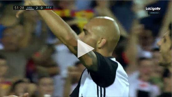 Video Valencia 4 - 0 Sevilla La Liga Vòng 9