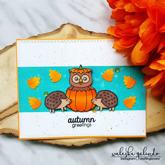 Sunny Studio Stamps: Happy Owl-O-Ween Woodsy Creatures Customer Card by Waleska Galindo