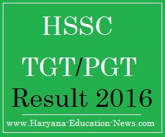 image : HSSC TGT PGT Result 2016-17 @ www.Haryana.Education.Nerws.com