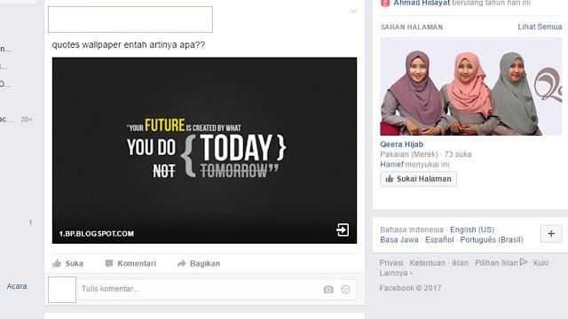 Trik Hanya Menampilkan Thumbnail Saja Share Post Facebook