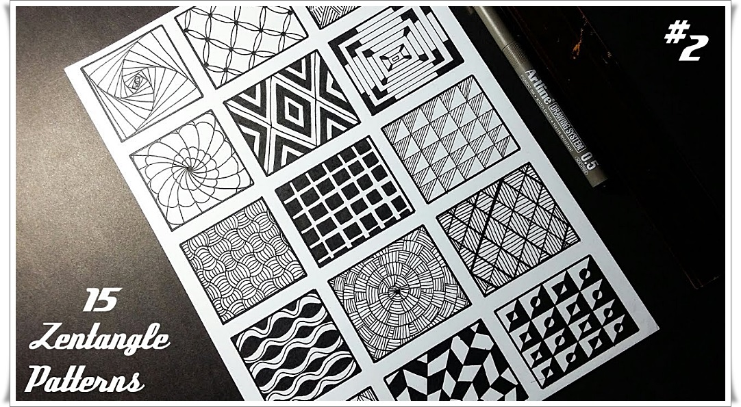 graphic regarding Zentangle Patterns Free Printable identify 15 Zentangle Types - Cost-free Mandala