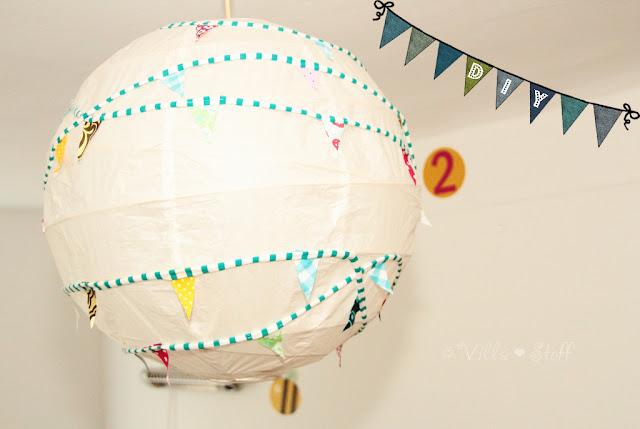 Villa stoff blog kinderzimmerlampe diy oder es - Papierlampe kinderzimmer ...