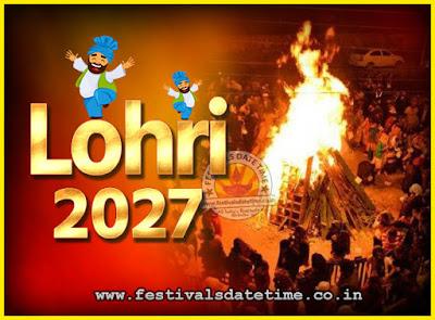 2027 Lohri Festival Date & Time, 2027 Lohri Calendar