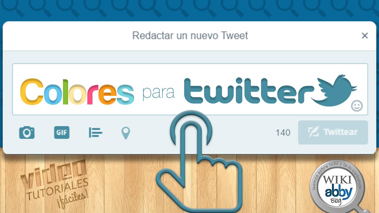 cambiar los colores del perfil de twitter cdigos html