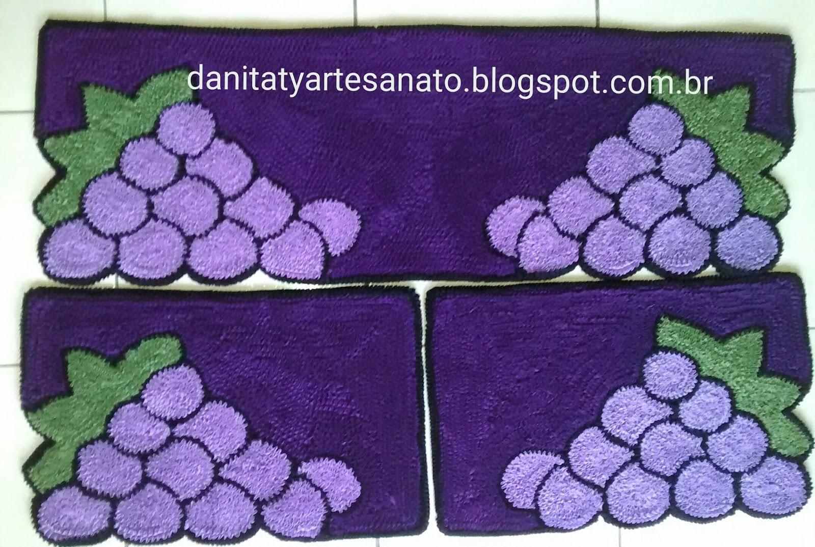 Artesanato Em Croche Para Cozinha Ideias De Artesanato Em Croch  -> Tapete Frufru De Flor