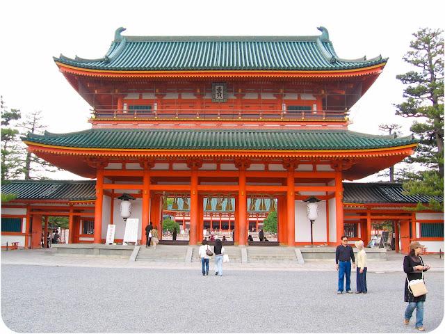 Le temple Heian Jingu à Kyoto