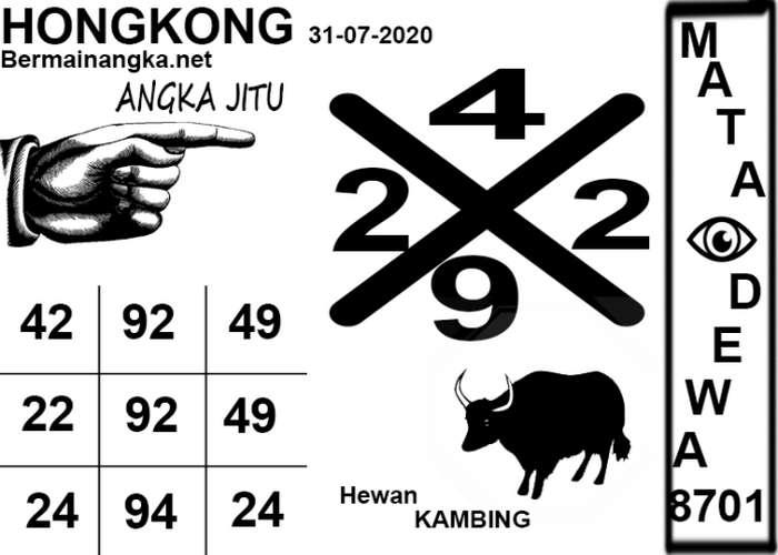 Kode syair Hongkong Jumat 31 Juli 2020 146