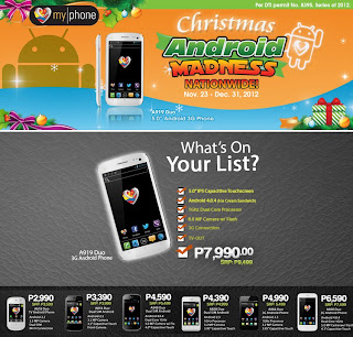 MyPhone Units Included In Christmas Android Madness