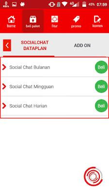 Selanjutnya kalian pilih Social Chat Bulanan, Social Chat Mingguan, atau Social Chat Harian.