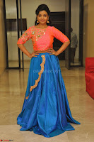 Nithya Shetty in Orange Choli at Kalamandir Foundation 7th anniversary Celebrations ~  Actress Galleries 142.JPG