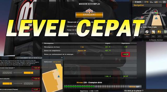 Cara Cepat Naik Level Euro Truck Simulator 2