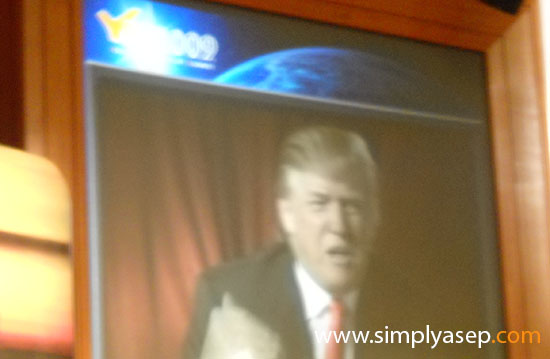 DONALD TRUMP: When giving a speech replacing Amitab Bachan at the YES 2009 Southeast Asia Youth Conference. Photo of Asep Haryono