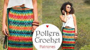 Pollera crochet con patrones