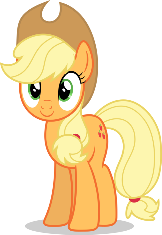 Mlp Fim Applejack (happy) vector