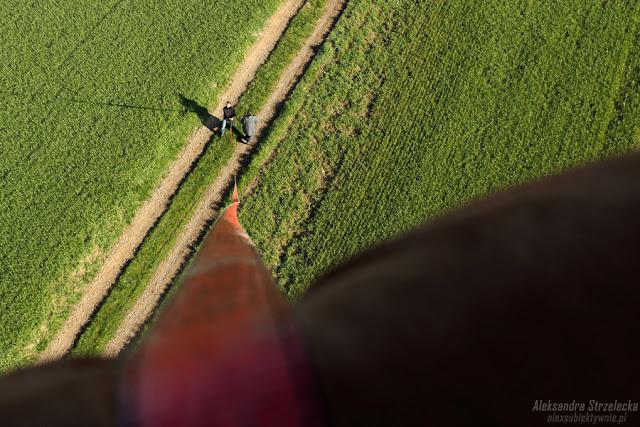Lądowanie - lot balonem