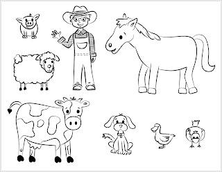 Ausmalbilder Haustiere zum Ausdrucken