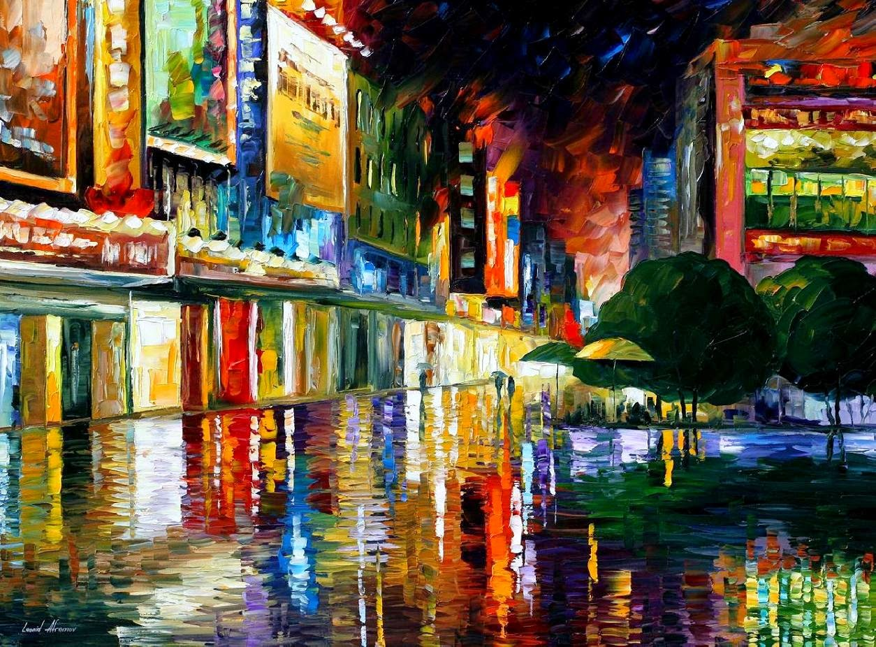 Filme Theatre - Pinturas de Leonid Afremov | O mestres da  espátula