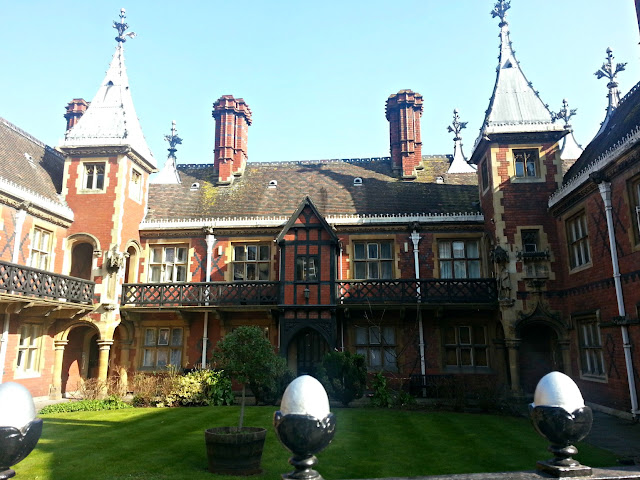 Historic Tudor Building on Colston Street in Bristol, UK