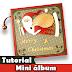 Mini álbum   Tutorial   Natal   PAP   Como fazer