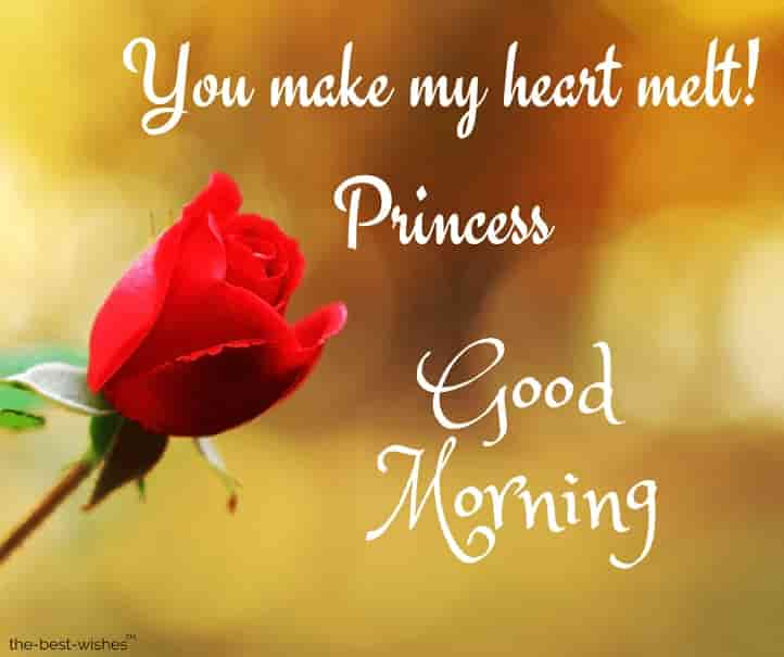 good morning princess text for wife