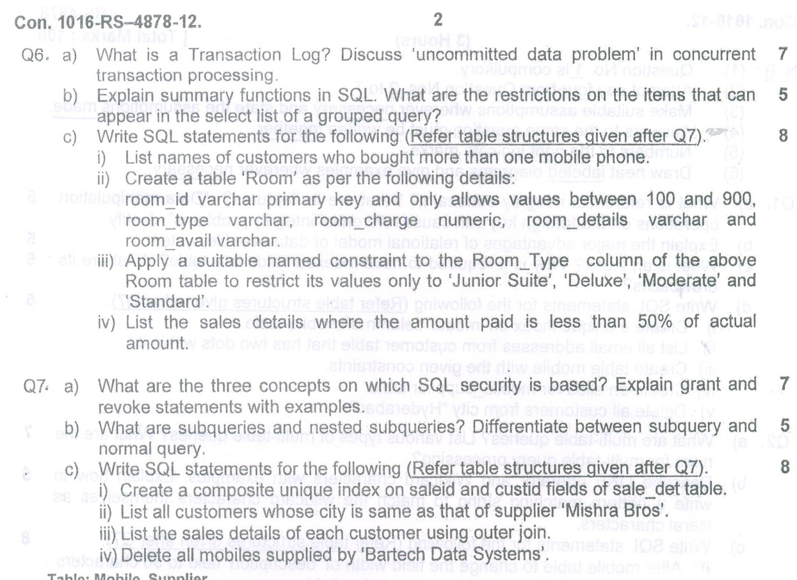MySQL Information Technology - Research Paper Example