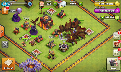 Download Clash of Clans FHx V8 Mod Apk (TH 11) Update Terbaru 2018 - Indonesia