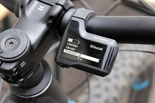 Die Verbindung des Handys mit der Shimano-App.