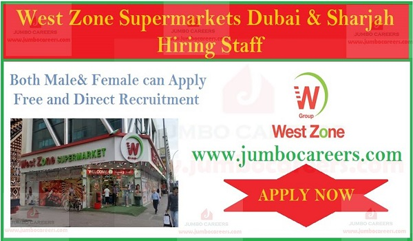 Latest job openings in Gulf countries, Supermarket jobs with salary and benefits,