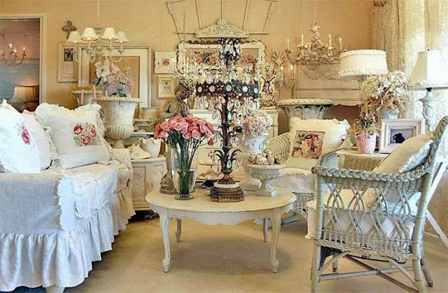 shabby chic decorating paint colors