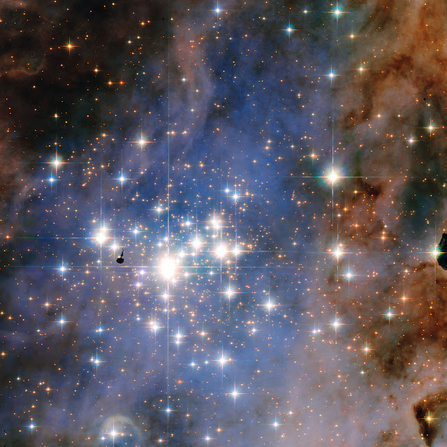 Hubble sees dazzling diamonds