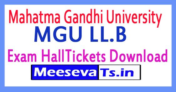 Mahatma Gandhi University MGU LL.B Exam HallTickets