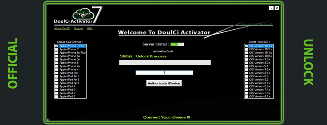 doulci activator v7.0 private build username and password