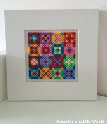 Hama bead quilt style picture