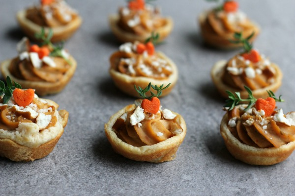 Mini Hummus Tarts with Pretzel Sprinkles