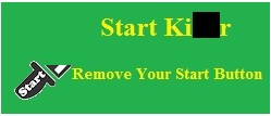 how to remove start button win 7