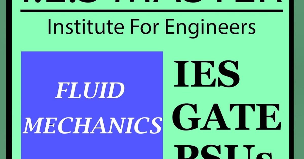 Download Fluid Mechanics IES Master Book Pdf - CG Aspirants