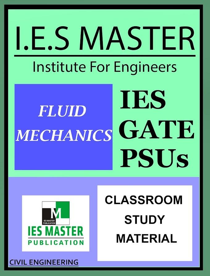 Download Fluid Mechanics IES Master Book Pdf